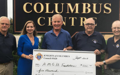 Knights of Columbus help AMGH Foundation get closer to reaching their goal