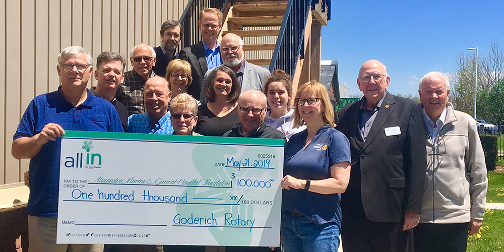 The Rotary Club of Goderich are All In!