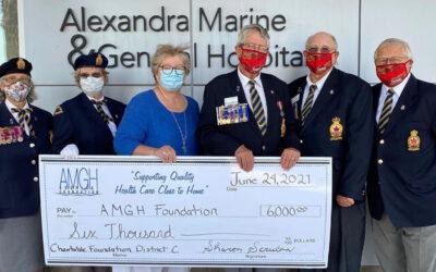 Legion Branch 109 Donates $6,000 to AMGH Foundation